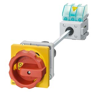 main- and EMERGENCY-STOP switches with door coupling rotary mechanism, center-hole mounting